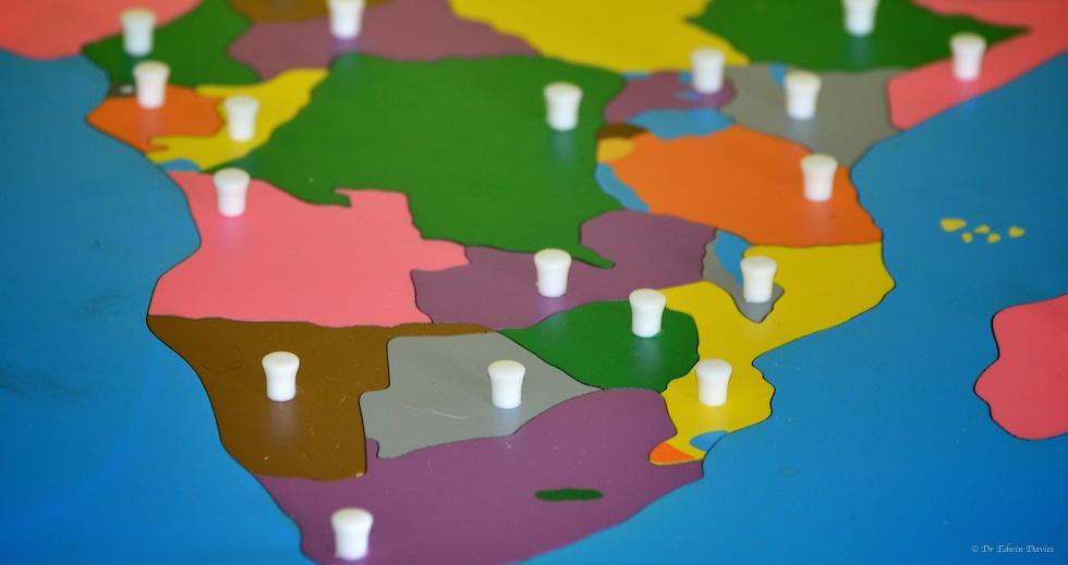 Montessori map of Africa