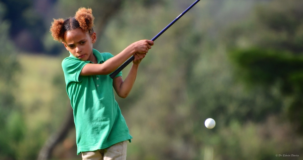Learning to pitch during golf tuition