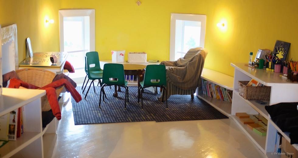 View of peace corner in Montessori classroom