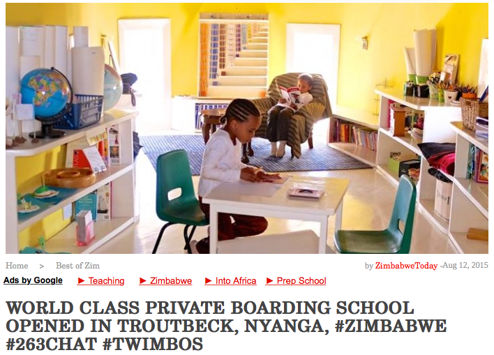 Zimbabwe-Today features  The Troutbeck School