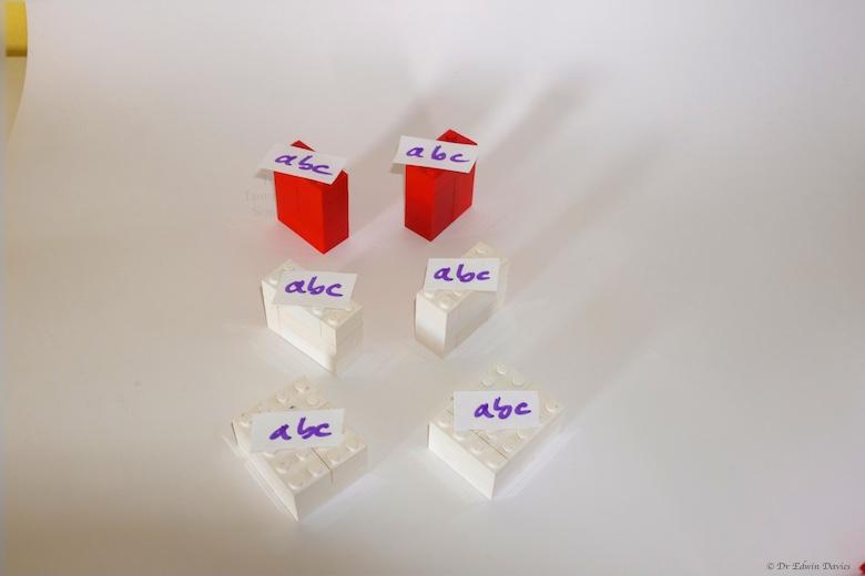 lego trinomial cube 3 pairs of abc blocks