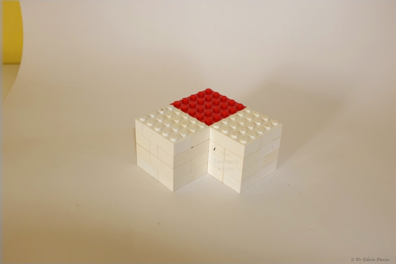 lego trinomial cube building a layer