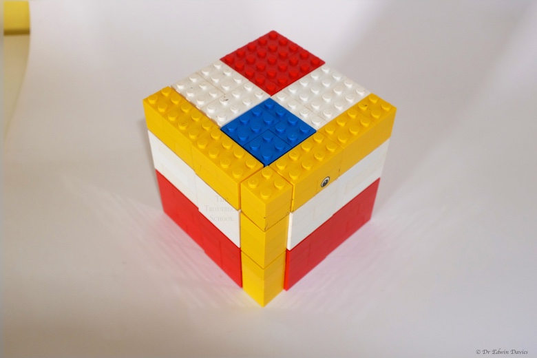 lego trinomial cube completed
