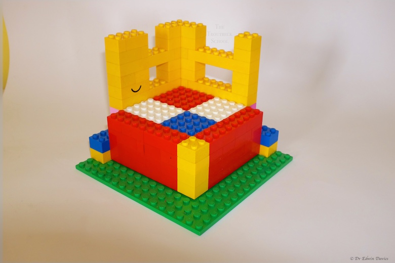 lego trinomial cube holder with 'a' layer