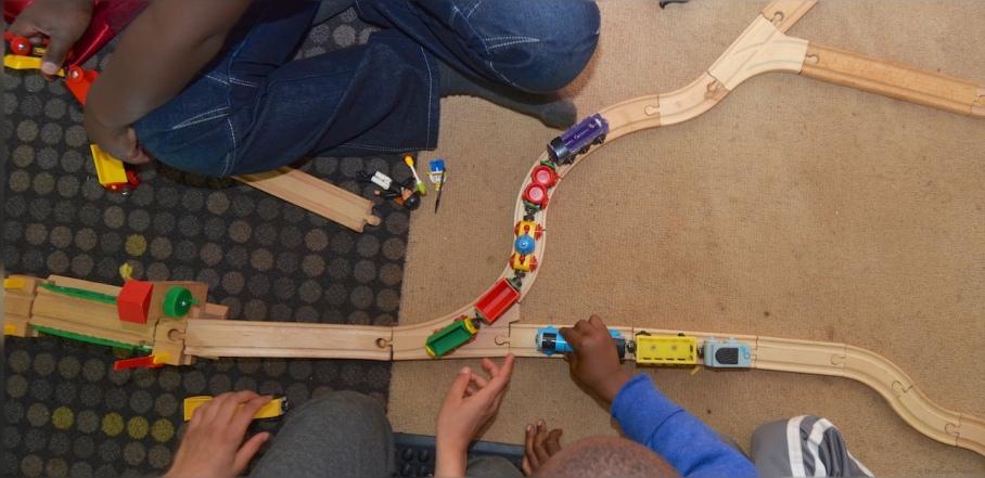 Fun with the Brio train set