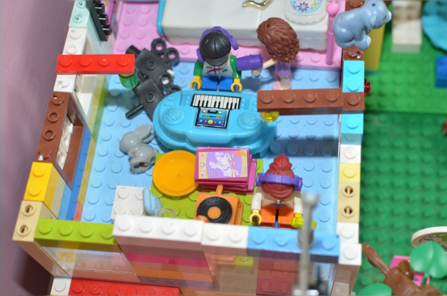 Inside the Lego music studio