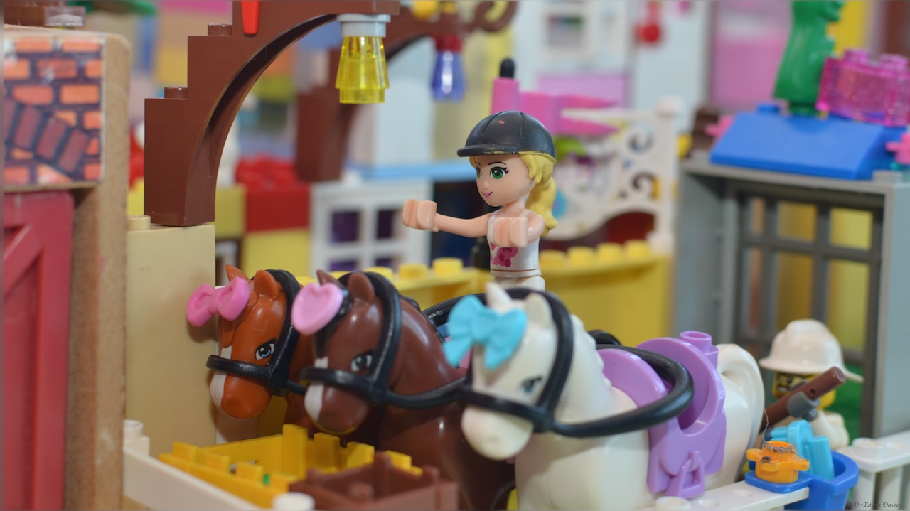 Horses in the Lego stable