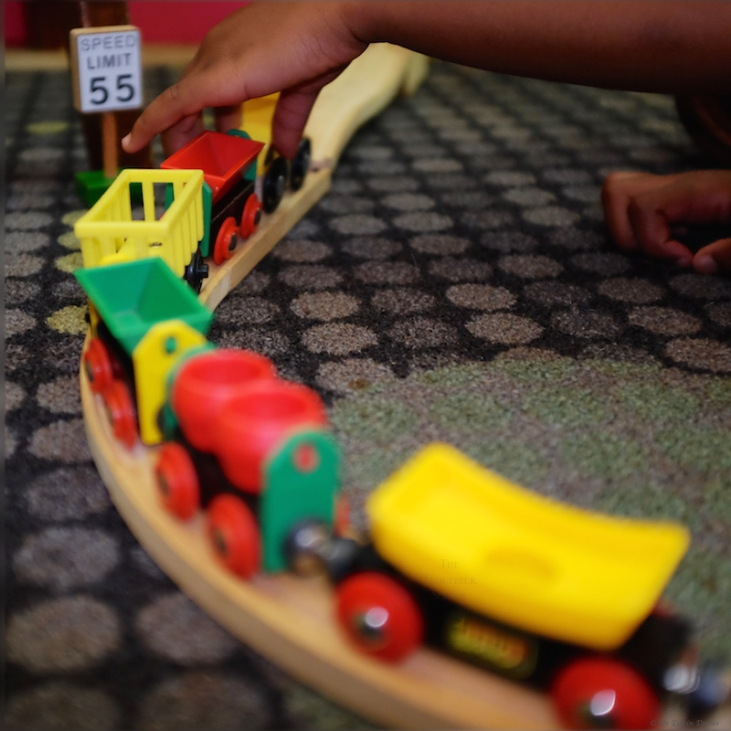 Fun with the Brio train set