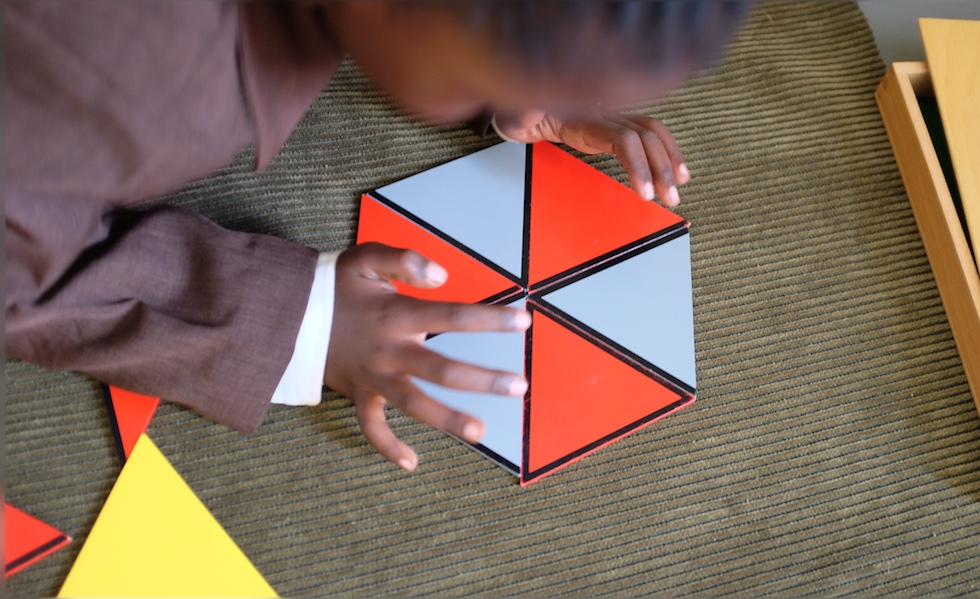Building using triangles