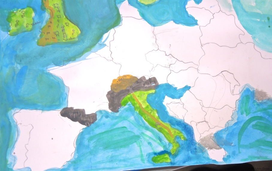 why not design your own physical map of Europe!
