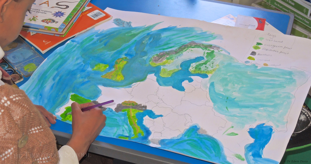 Designing A Physical Map Of Europe The Troutbeck School - A physical map