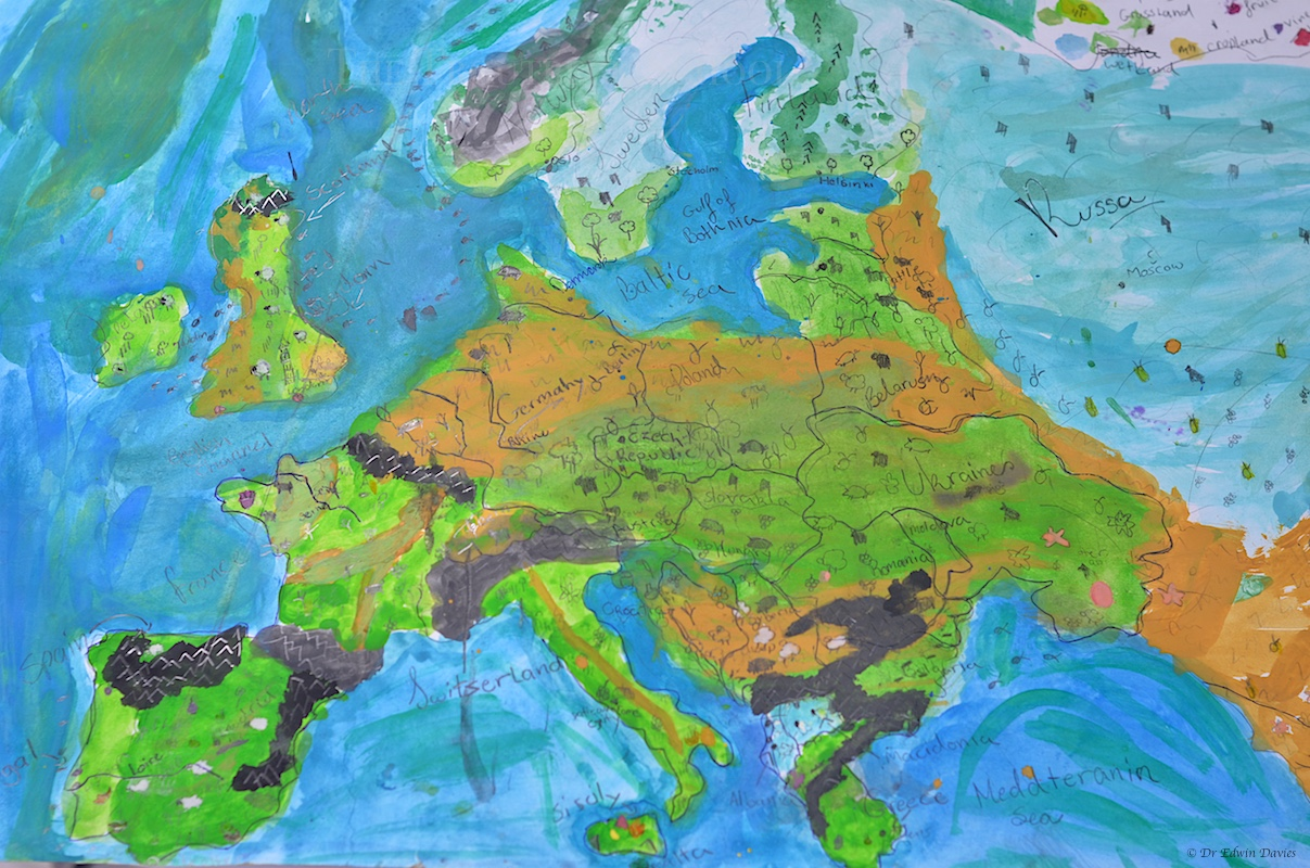 Designing A Physical Map Of Europe The Troutbeck School - Europe physical map