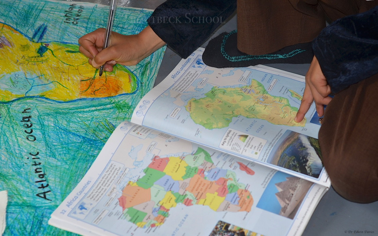 Drawing a physical map of africa the troutbeck school drawing a physical map of africa gumiabroncs Image collections