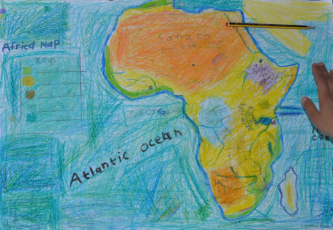 Drawing a physical map of africa the troutbeck school the map to date physical africa gumiabroncs Image collections