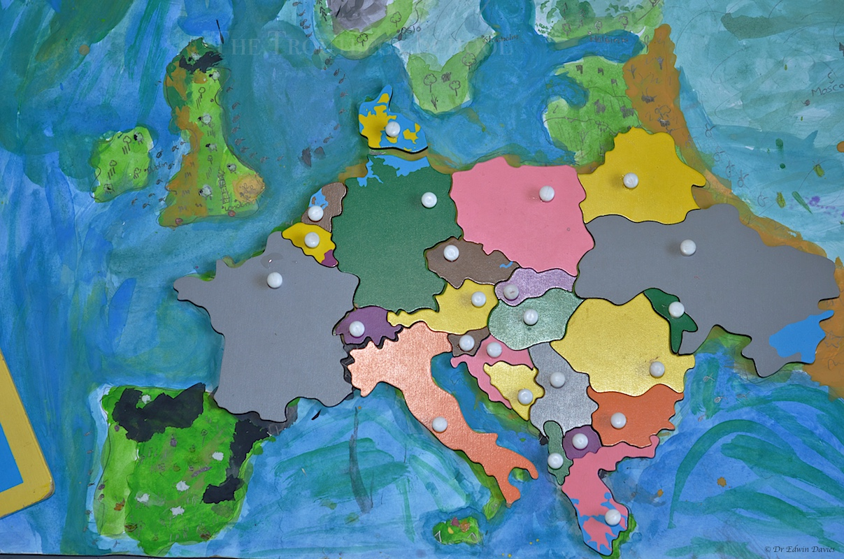 Designing a physical map of Europe | The Troutbeck School