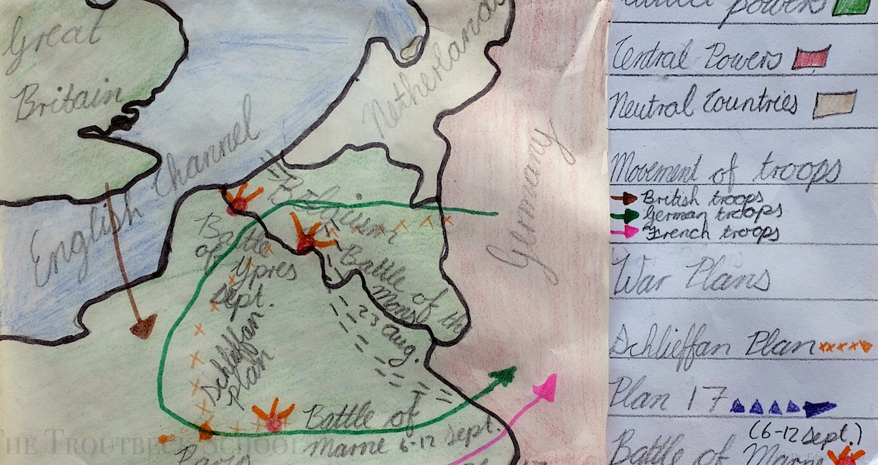 We draw our own maps of the First World War   The Troutbeck Draw Your Own Map on